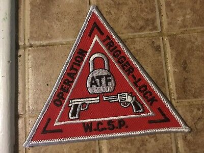 Federal ATF Operation Trigger Lock Police Patch RARE Collectible