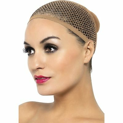 Nude Mesh Wig Cap Ladies Womens Adults Fancy Dress Costume Accessory