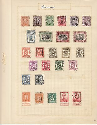 BELGUIM    EARLY COLLECTION used on old album Page MINT/USED