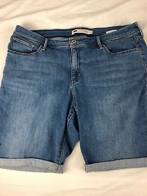 fc7ed066 Levi's 512 Perfectly Shaping Womens Bermuda Shorts blue jean plus size 20