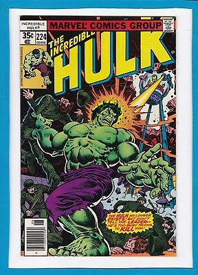 "Incredible Hulk #224_June 1978_Near Mint Minus_""follow The Leader""_Bronze Age!"