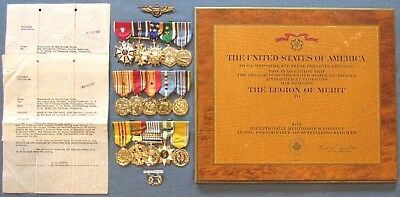 Id'd WWII/KW/VN-War USMC aviator's mounted medals, wings, LOM, DFC,& AM docs