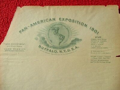 "1901 AWESOME Pan-American Exposition ""On the Niagara Frontier"",letterhead!"