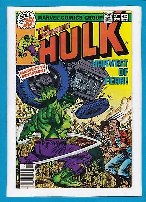 "Incredible Hulk #230_December 1978_Near Mint Minus_""harvest Of Fear""_Bronze Age!"