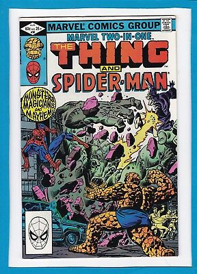Marvel Two-In-One #90_August 1982_Nm Minus_The Thing_Spider-Man_Bronze Age!