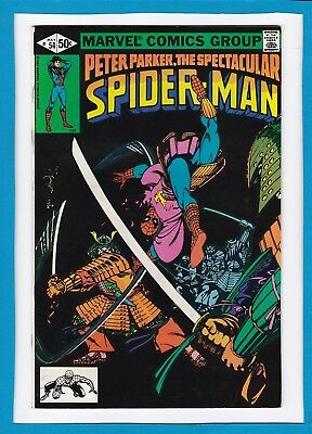 """Peter Parker The Spectacular Spider-Man #54_May 1981_Very Fine+_""""samurai""""!"""