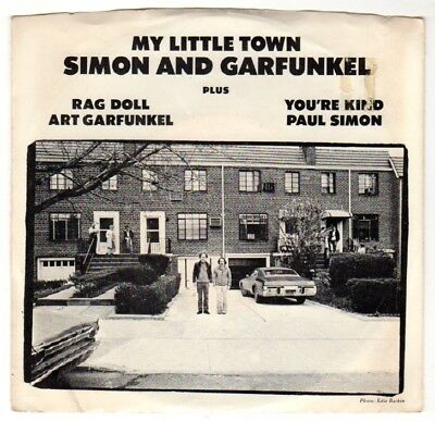 "SIMON & GARFUNKEL 7"" EP My little town/ Rag doll/ You're kind  + Bildhülle 1975"