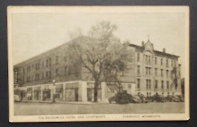 Faribault, Minnesota - The Brunswick Hotel & Apartments Pre-1920 Old Postcard ej