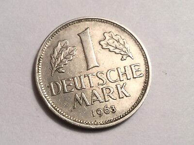 WEST GERMANY 1963-G 1 Mark coin very nice condition