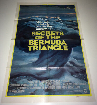 SECRETS OF BERMUDA TRIANGLE Movie Poster 1977 Lost Airplanes Mystery Conspiracy