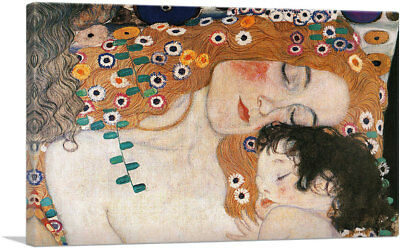 ARTCANVAS The Three Ages of Woman Mother and Child Canvas Art Print Gustav Klimt