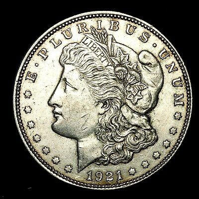 1921 D ~**ABOUT UNCIRCULATED AU**~ Silver Morgan Dollar Rare US Old Coin! #526