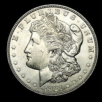 1921 D ~**ABOUT UNCIRCULATED AU**~ Silver Morgan Dollar Rare US Old Coin! #L67