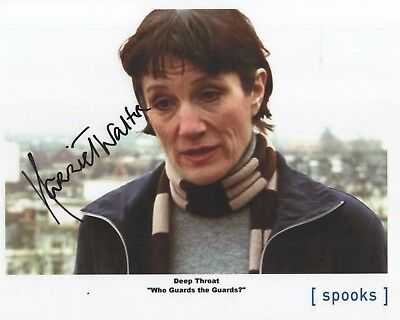 "Spooks MI-5 Auto Photo Print Dame Harriet Walter ""Deep Throat"""