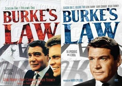 Burke's Law 1960s TV Series Complete Season 1 Volumes 1 & 2 NEW DVD BUNDLE SET