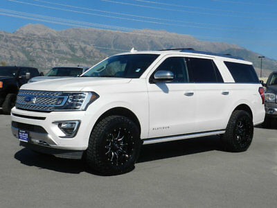 2018 Ford Expedition Max PLATINUM LIFTED FORD EXPEDITION PLATINUM MAX 4X4 SUV LEATHER NAV  ROOF CUSTOM WHEELS NEW