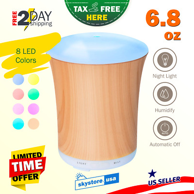 Portable Essential Oil Aromatherapy Diffuser Electric Humidifier 150ml LED New