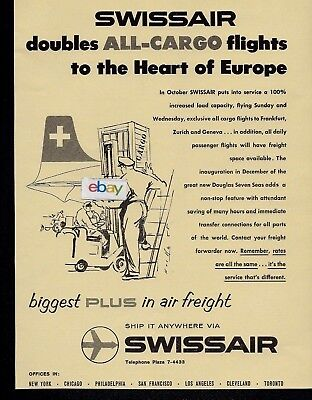 Swissair Doubles All-Cargo Flights To The Heart Of Europe Biggest Plus Ad