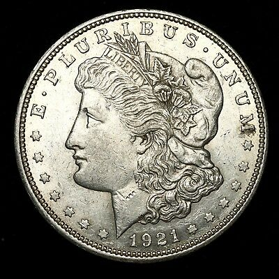 1921 D ~**ABOUT UNCIRCULATED AU**~ Silver Morgan Dollar Rare US Old Coin! #230