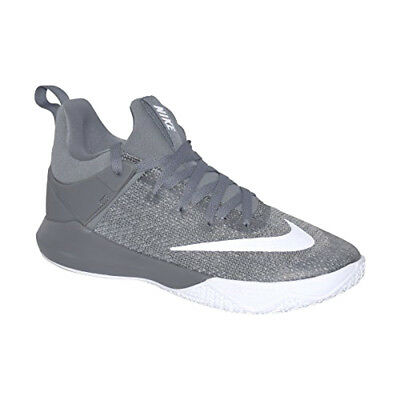 43fd4a03bc45 New Men s Nike 897653 001 Zoom Shift Cool Grey white Basketball Shoes  100