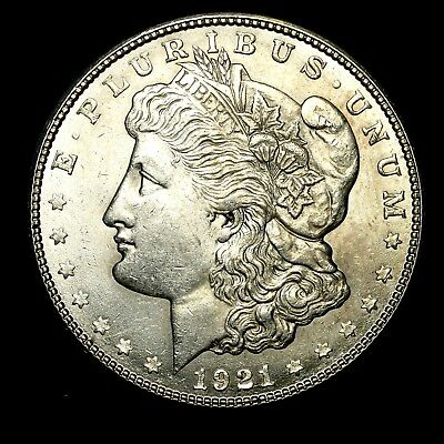 1921 S ~**ABOUT UNCIRCULATED AU**~ Silver Morgan Dollar Rare US Old Coin! #582