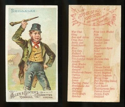 """1887 N3 Allen & Ginter Arms of All Nations """"Shillalah"""" VG **AA-9098**"""