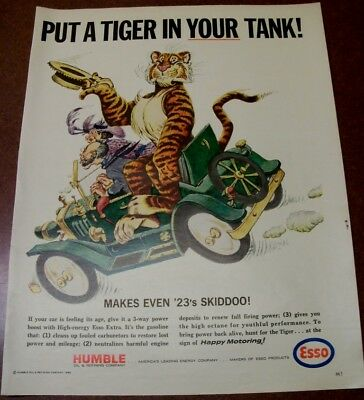 1965 - Magazine Ad - Put A Tiger In Your Tank - Humble - Esso - 23 Skiddoo - VG