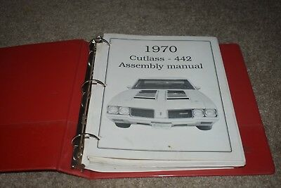 1970 Oldsmobile Olds Cutlass & 442 factory assembly manual REPRODUCTION