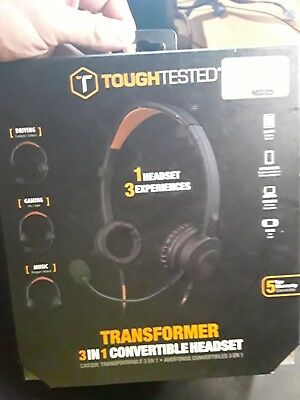 ToughTested Transformer 3 in 1 Convertible Headset Black