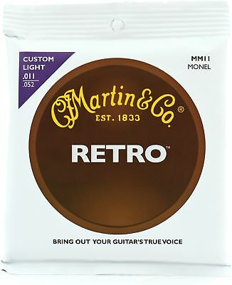 Martin MM11 Retro Acoustic Guitar Strings - 0.011-