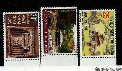 South Viet Nam Sc 501-3 NH issue of 1975 - Historic Sites