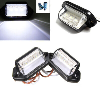 2PCS 3LED 12V License Number Plate Light Tail Rear Lamp For Truck Trailer Lorry