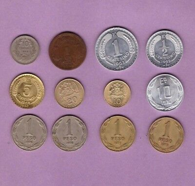 Chile - Coin Collection - Lot # X-21 - World/Foreign/South America