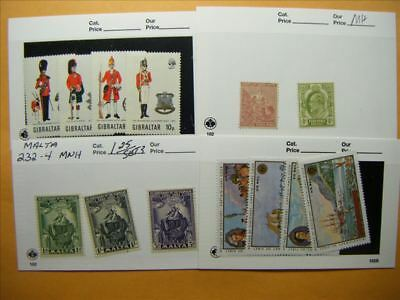 6901 Br. Commonwealth Lot of 4 Mint Stamp Packs