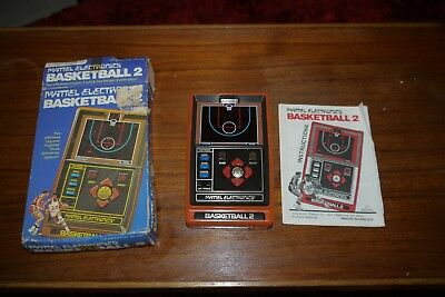 '79 Vintage Mattel Electronics Basketball 2 Hand Held Electronic Game box manual