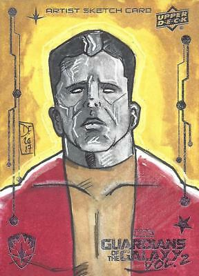 Marvel Guardians of the Galaxy Vol. 2 - Colossus Sketch Card - Dave Fowler X-Men