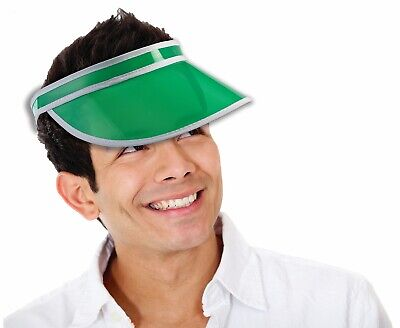 Green Colored Gambler Poker Dealer Bingo Plastic Clear Sun Visor Hat Las  Vegas 4a431cd54bd