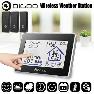 DIGOO Outdoor Touch Screen Wireless Weather Station Temperature Humidity Meter