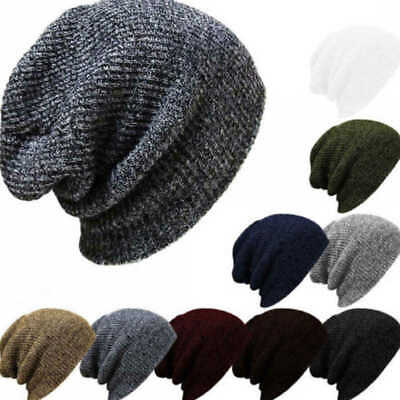 Fashion Men Unisex Winter Warm Wolly Knitted Corchet Slouch Beanie Skater Hat