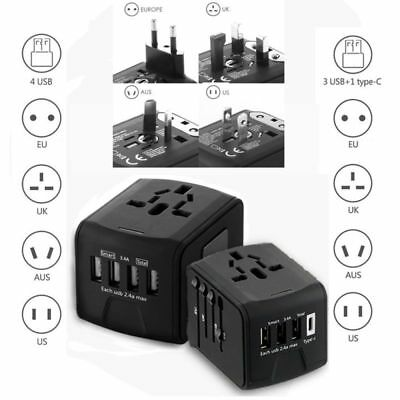 4 USB Part Universal Travel Adapter All-In-One International Travel Charger 2.4A