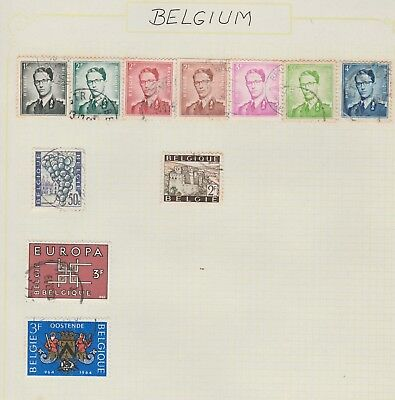 BELGIUM Collection Grapes, Buildings, Coast of Arms, etc USED as per scan #