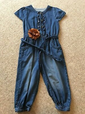Girls Denim Playsuit Age 2-3