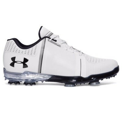Under Armour 2017 Tour Spieth 1 One Mens Golf Shoes - White/Black