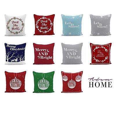 Adam Home 3D Digital Print Christmas QUOTE Collection Throw Cushion Covers