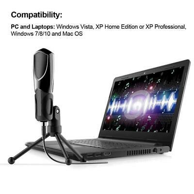 USB Condenser Microphone Professional Studio Recording Gaming for Computer PC