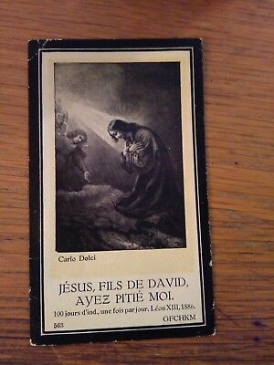 145210 Santino Holy Card LUTTINO JESUS FILS