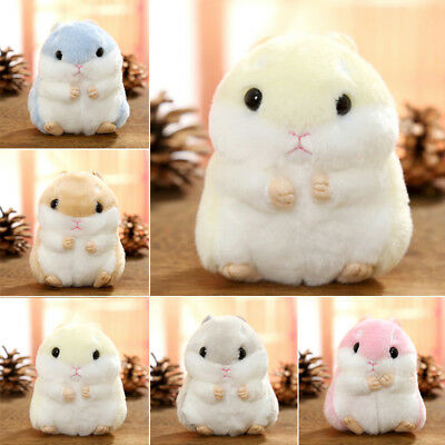 XMAS GIFT Cartoon Plush Hamster Toy Doll Key Chain Keyring Stuffed Mouse Mice