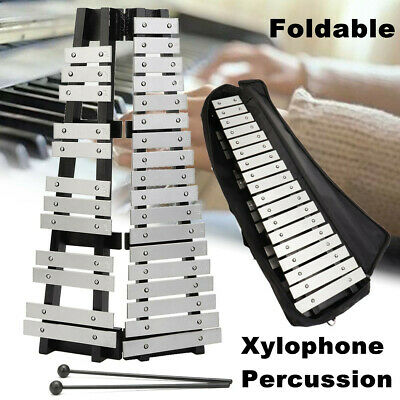Professional 30 Note Glockenspiel Xylophone Percussion Metal Keys Foldable + Bag