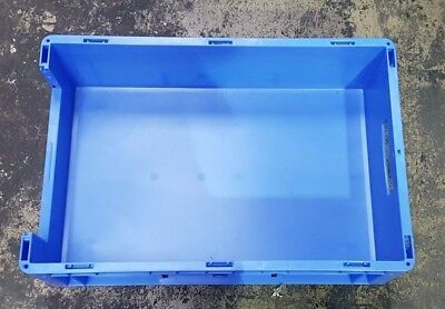 Blue plastic tote boxes, 34LTR - QTY 30 - Brand New