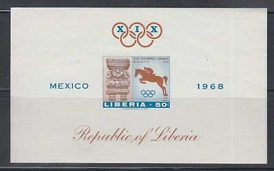 Liberia 1968 Olympics Horse MS IMPERF  Sc C181  Mint Never Hinged